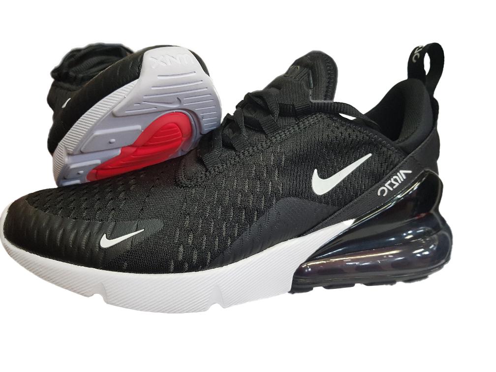 Nike Air Max 270 (GS) Sneaker Damen Kinder |Gr 37,5-40 |Schwarz/Weiss |943345 001