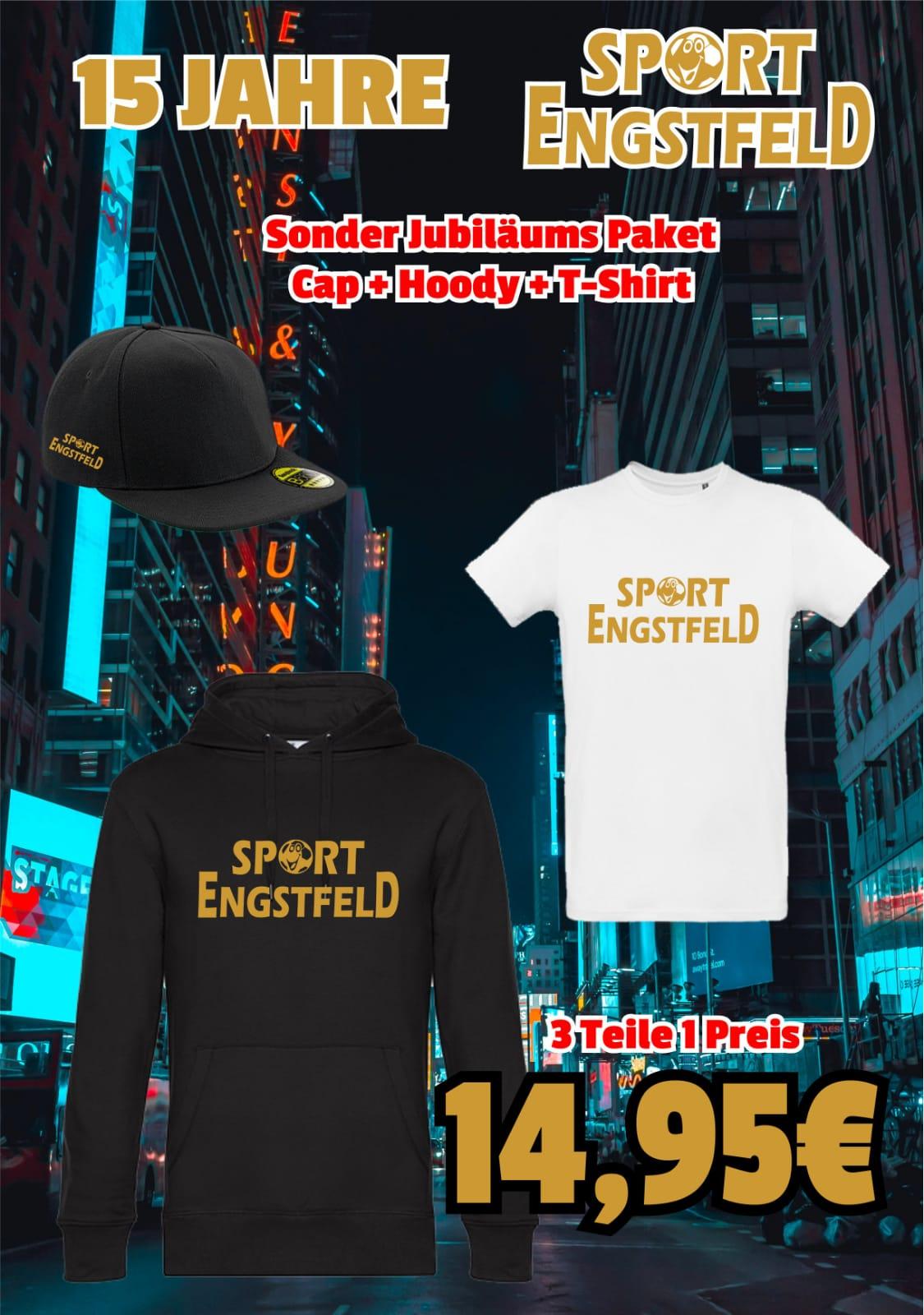 Jubiläums SET  Hoody  T-shirt CAP   3 Teile  1 Preis