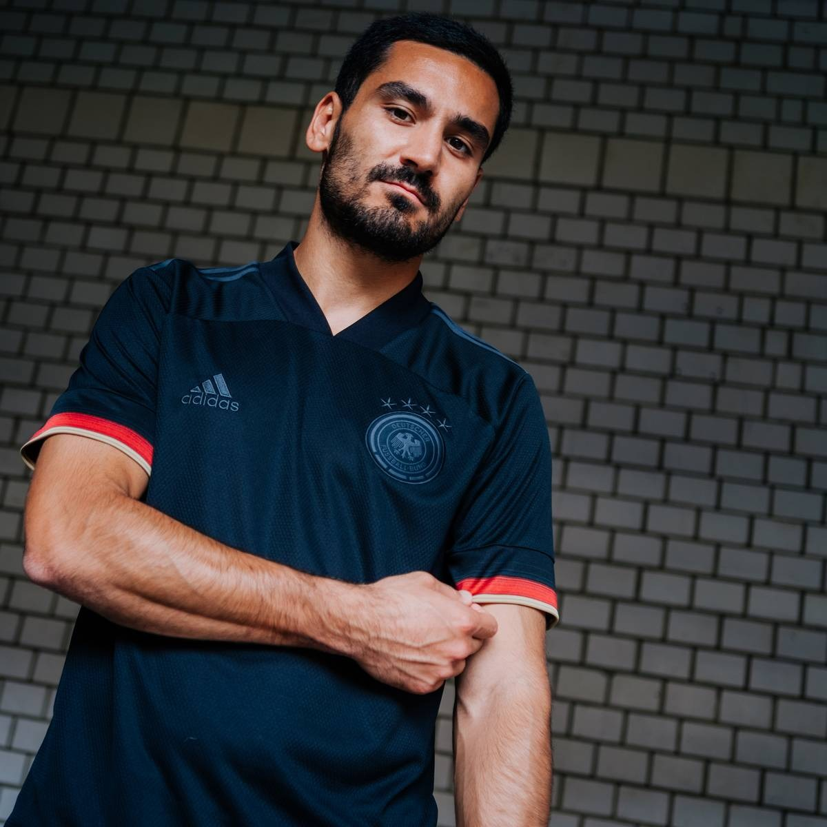 Herren DFB Away Trikot Deutschland EM 2021  schwarz