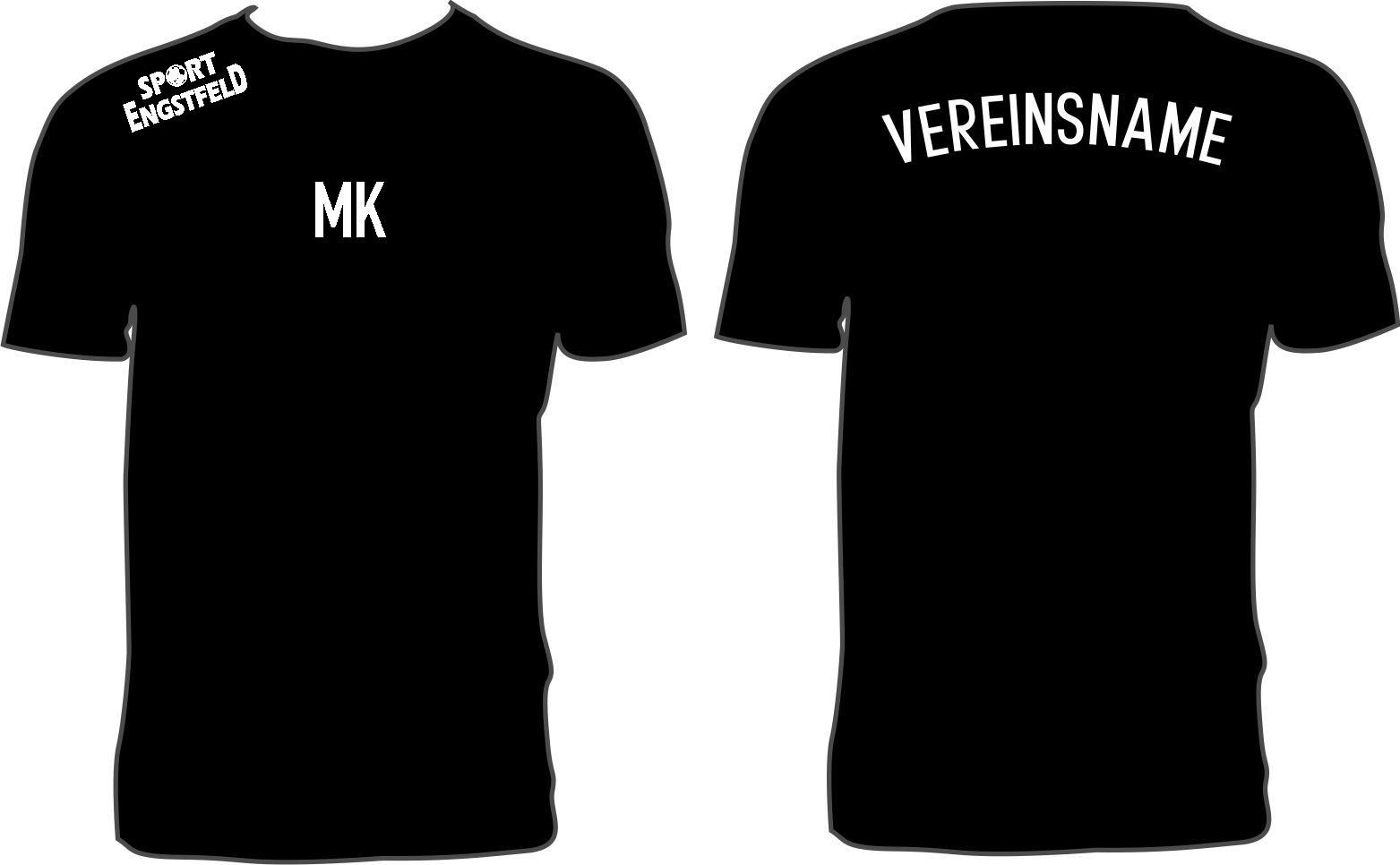 20x Erwachsenen T-Shirts inkl Vereinsnamen + Initialien oder kleiner Nummer