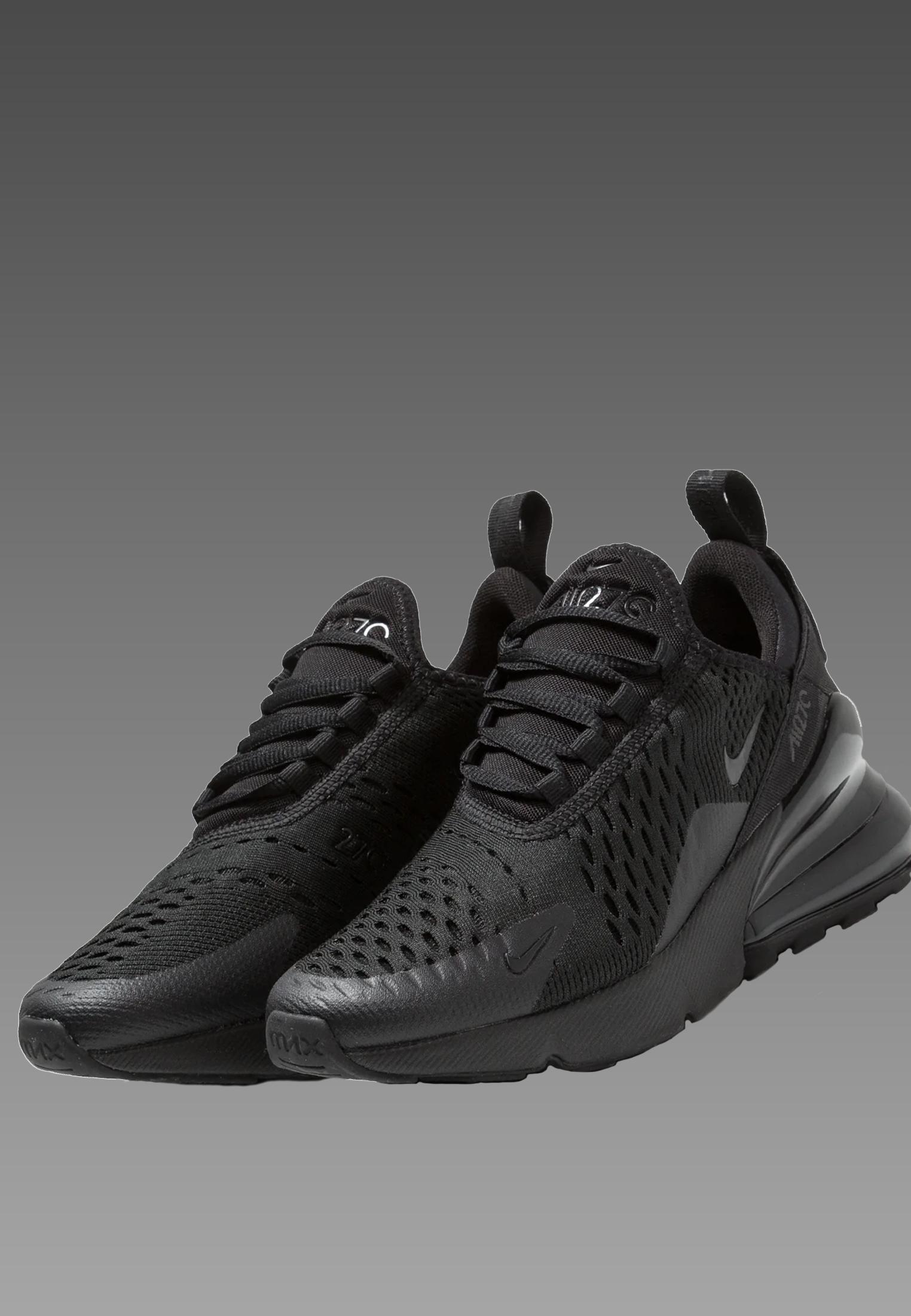Nike Air Max 270 (GS) Sneaker Damen Kinder |Gr 37,5-40 |Schwarz/Schwarz |BQ5776 001